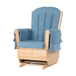 SafeRocker Standard Glider Rocker, Natural/Blue