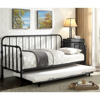 Furniture of America Bellareaux Transitional 2-piece Metal Daybed with Trundle Set
