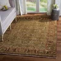 Safavieh Couture Hand-Knotted Old World Vintage Light Green / Rust Wool Rug - 5' x 8'