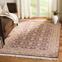 Safavieh Couture Hand-Knotted Royal Kerman Traditional Palm / Green Wool Rug - 5' x 8'