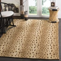 Safavieh Couture Hand-Knotted Tibetan Contemporary Beige Wool & Cotton Rug - 5' x 7'6'
