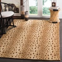 Safavieh Couture Hand-Knotted Tibetan Contemporary Silver Wool & Cotton Rug - 5' x 7'6'