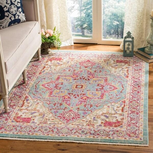 Shop Safavieh Sutton Medallion Aqua/ Multi Wool Rug