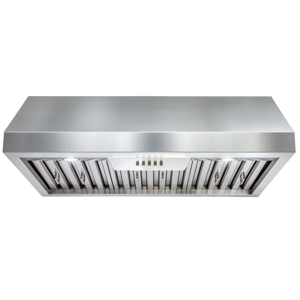 "AKDY RH0329 30"" Stainless Steel Under Cabinet Mount Range Hood LED Light Cooking Fan"