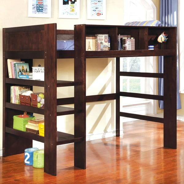 Bookcase Around Bed: Shop Peralta Transitional Twin Loft Bed With Built-in