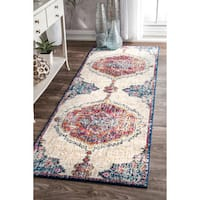 nuLOOM Traditional Medallion Multi Runner Rug - 2'8 x 12'