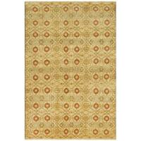 Safavieh Couture Hand-Knotted Nepalese Contemporary Cream / Saffron Wool Rug - 6' x 9'
