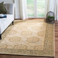 Safavieh Couture Hand-Knotted Florence Classic Beige / Gray Wool Rug - 6' x 9'