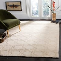 Safavieh Couture Hand-Knotted Contemporary Ivory Wool Rug - 6' x 9'
