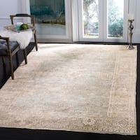 Safavieh Couture Hand-Knotted Oushak Traditional Blue / Grey Viscose Rug - 6' x 9'