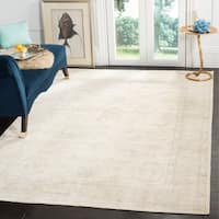 Safavieh Couture Hand-Knotted Oushak Traditional Beige Wool Rug - 6' X 9'