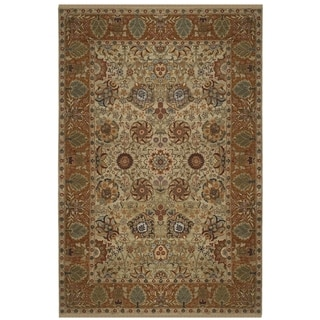 Safavieh Couture Hand-knotted Old World Kiyo Traditional Oriental Wool Rug with Fringe