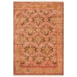 Safavieh Couture Hand-Knotted Polonaise Classic Gold / Bronze Wool Rug (6' x 9')