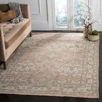 Safavieh Couture Hand-Knotted Sivas Vintage Peach / Ivory Wool & Viscose Rug - 6' x 9'