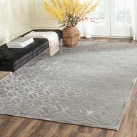 Safavieh Couture Hand-Knotted Tibetan Contemporary Slate Viscose & Wool Rug - 6' x 9'