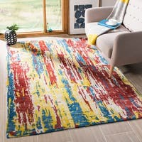 Safavieh Couture Hand-Knotted Tibetan Contemporary White / Multi Wool & Cotton Rug - 6' x 9'