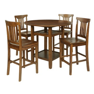 Oakland 5 Piece Dining Room Chair and Table Set in Toffee with a Wood Stain Finish