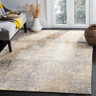 Safavieh Couture Hand-knotted Tiffany Isaura Modern Abstract Viscose Rug