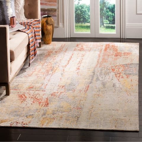 Safavieh Couture Hand-knotted Tiffany Prima Modern Abstract Viscose Rug