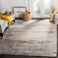 Safavieh Couture Hand-Knotted Tiffany Contemporary Beige / Light Blue Wool & Cotton Rug (6' x 9')
