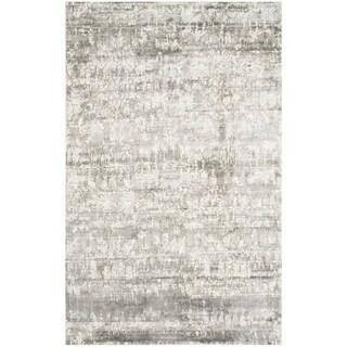 Safavieh Couture Hand-knotted Tibetan Tova Modern Hand-spun Wool Rug (6 x 9 - Silver/Ivory)