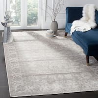 Safavieh Couture Hand-Spun Tibetan Contemporary Grey / Ivory Viscose Rug - 6' x 9'