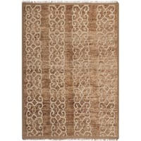 Safavieh Couture Hand-Knotted Contemporary Brown Wool & Jute Rug (6' x 9')
