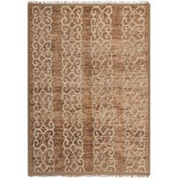 Safavieh Couture Hand-Knotted Contemporary Brown Wool & Jute Rug - 6' x 9'