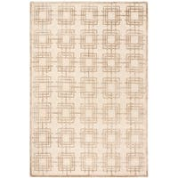 Safavieh Couture Hand-Knotted Contemporary Ivory Wool & Silk Rug - 6' x 9'