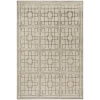 Safavieh Couture Hand-Knotted Contemporary Blue Wool & Silk Rug - 6' x 9'