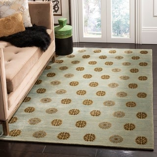 Safavieh Couture Hand-Knotted Contemporary Ocean Wool & Silk Rug (6' x 9')