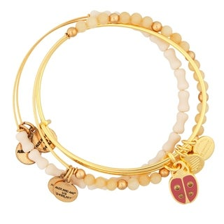 Alex and Ani Ladybug Set of Three Bangles