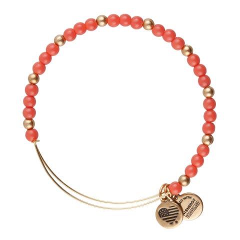 Alex and Ani Flora Bangle - Pink