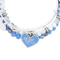 Alex and Ani Mom Set of Three Bangle Bracelets - Blue