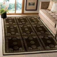 Safavieh Couture Hand-Knotted Contemporary Bronze Wool & Silk Rug - 6' x 9'
