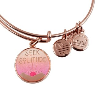 Alex and Ani Seek Solitude Bangle Bracelet - Pink