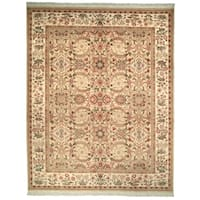 Safavieh Couture Hand-Knotted Versailles Vintage Creme Wool Rug - 6' x 9'