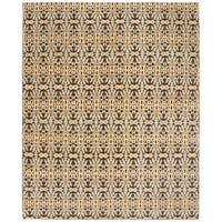 Safavieh Couture Hand-Knotted Asian Fusion Modern Chocolate / Multi Wool Rug - 8' x 10'
