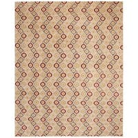 Safavieh Couture Hand-Knotted Asian Fushion Modern Ivory / Multi Wool Rug - 8' x 10'