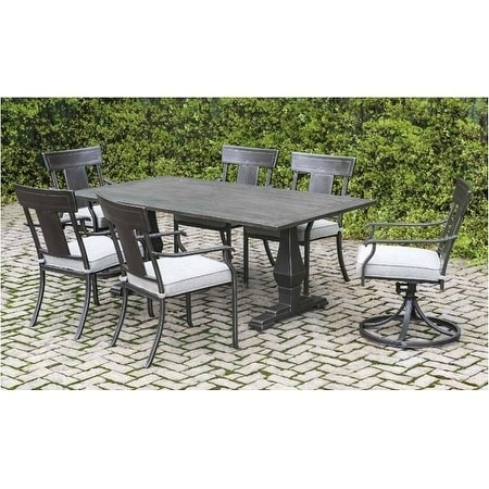 Charmant Dashly Modern Farmhouse 7 Piece Outdoor Dining Set