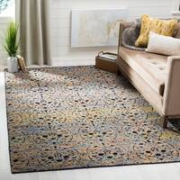 Safavieh Couture Hand-Knotted Castilla Casual Blue Gold / Charcoal Wool Rug - 8' x 10'