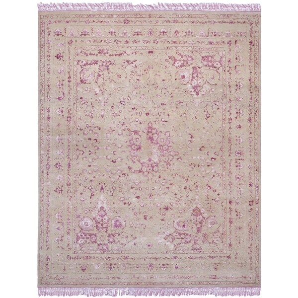 Shop Safavieh Couture Hand-Knotted Dream Traditional Pink