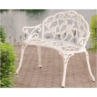 Vintage Rose Garden Outdoor Bench
