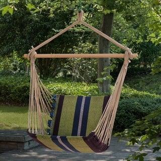 Green/ Blue Outdoor Seat Hammock Chair