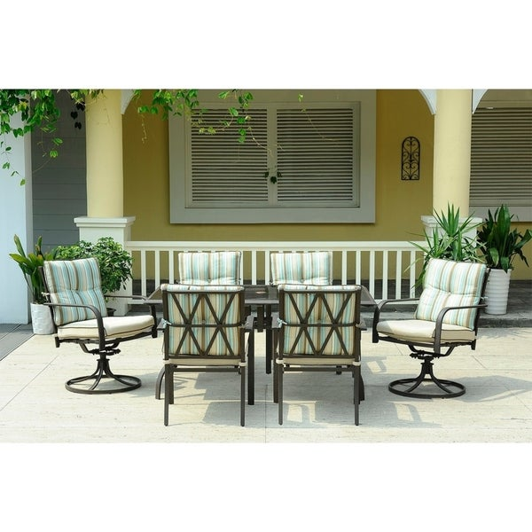 7pc Glass Table Outdoor Dining Set