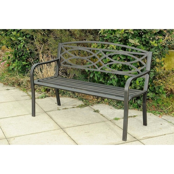 Shop Steel Outdoor Bench Free Shipping Today Overstock Com