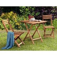 Wood Outdoor Bistro Set