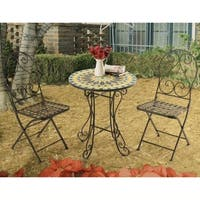 New Mosaic 3pc Outdoor Bistro Set