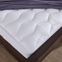 St. James Home 500 Thread Count Cotton Mattress Pad - White