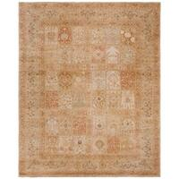 Safavieh Couture Hand-Knotted Haj Jalili Traditional Ivory / Gold Wool Rug - 8' x 10'